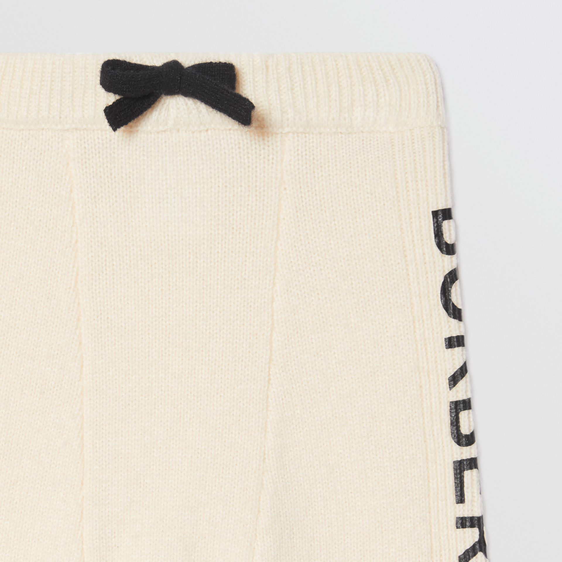 Logo Print Wool Cashmere Six-piece Baby Gift Set in Ivory - Children | Burberry United States - gallery image 13