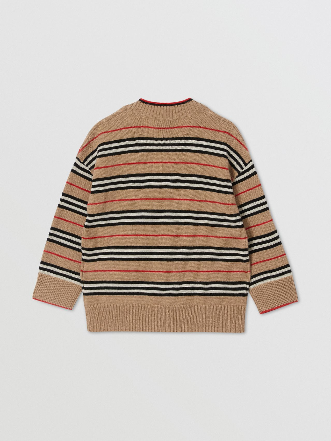 Icon Stripe Wool Cashmere Cardigan (Archive Beige)