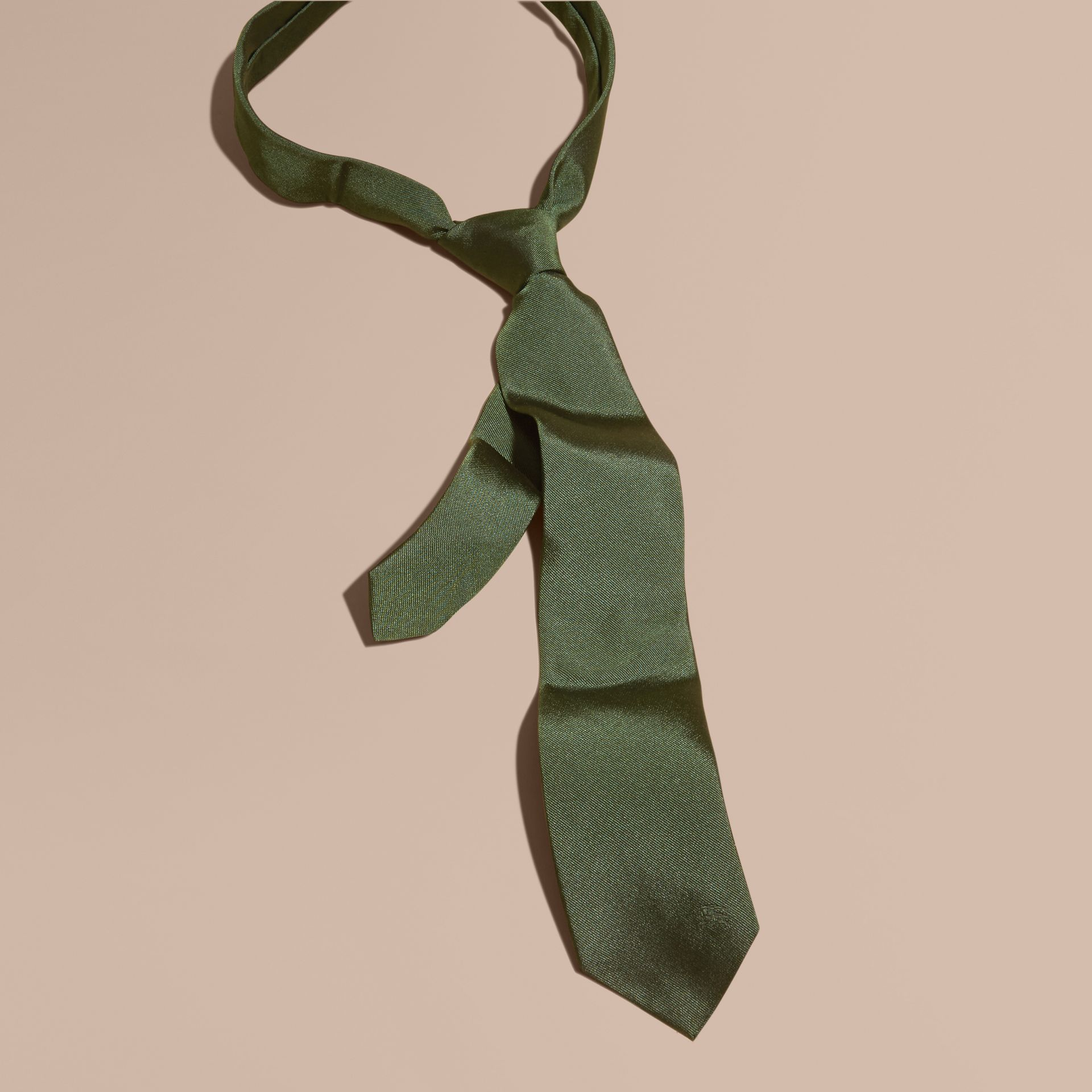 Dark forest green Modern Cut Silk Twill Tie Dark Forest Green - gallery image 1