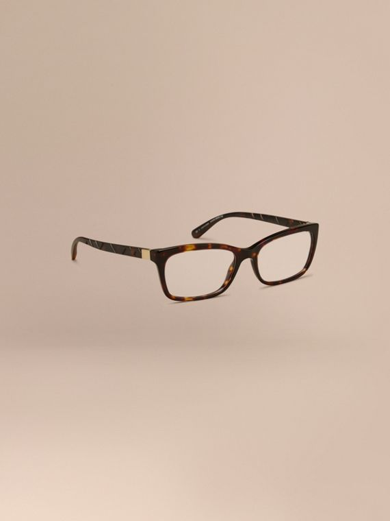 Check Detail Rectangular Optical Frames Tortoiseshell