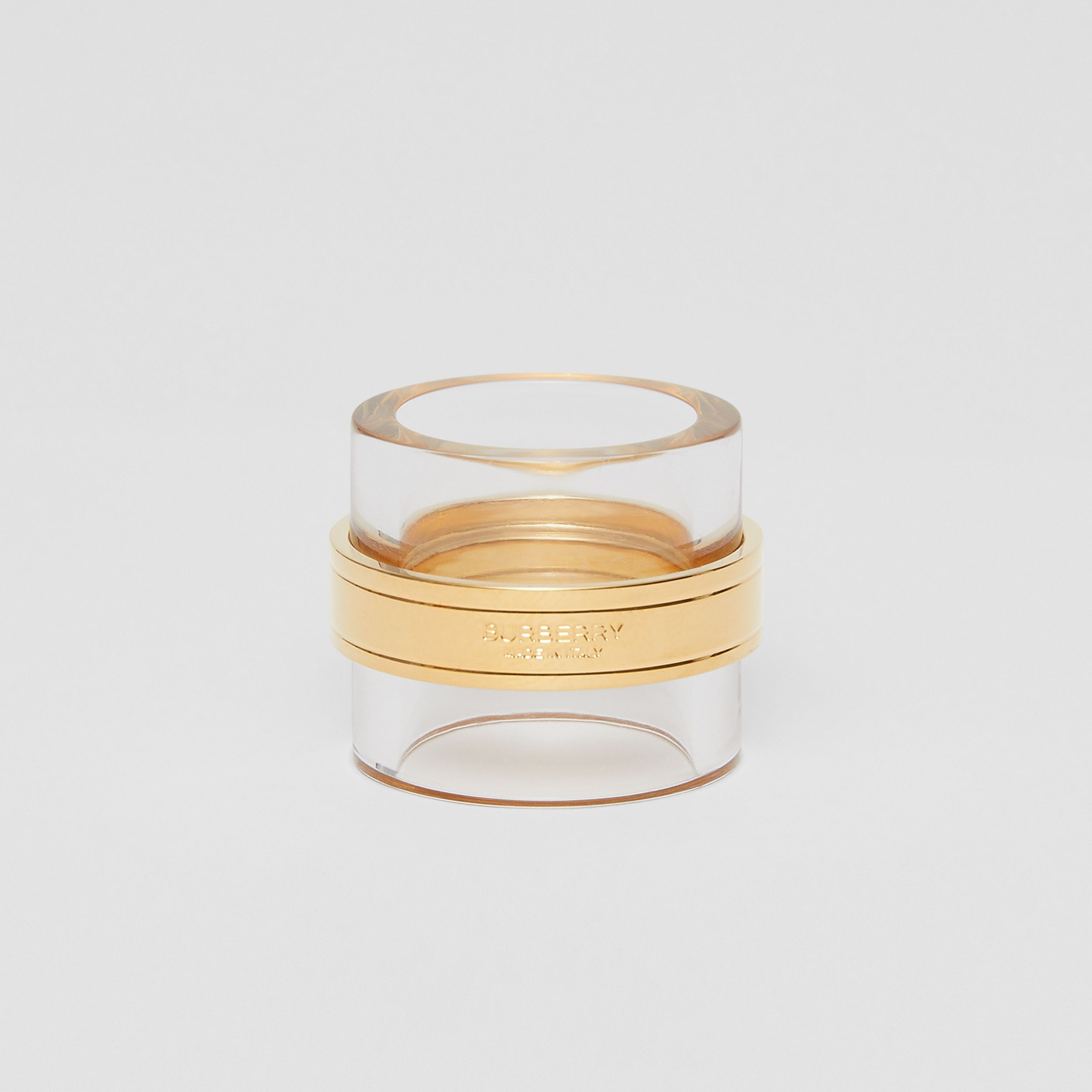 Resin and Gold-plated Cylindrical Ring in Light Gold/beige - Women | Burberry - 3