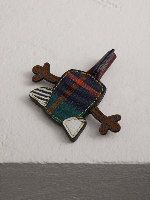 Creature Appliqué Leather Pencil Topper in Multicolour | Burberry - cell image 2