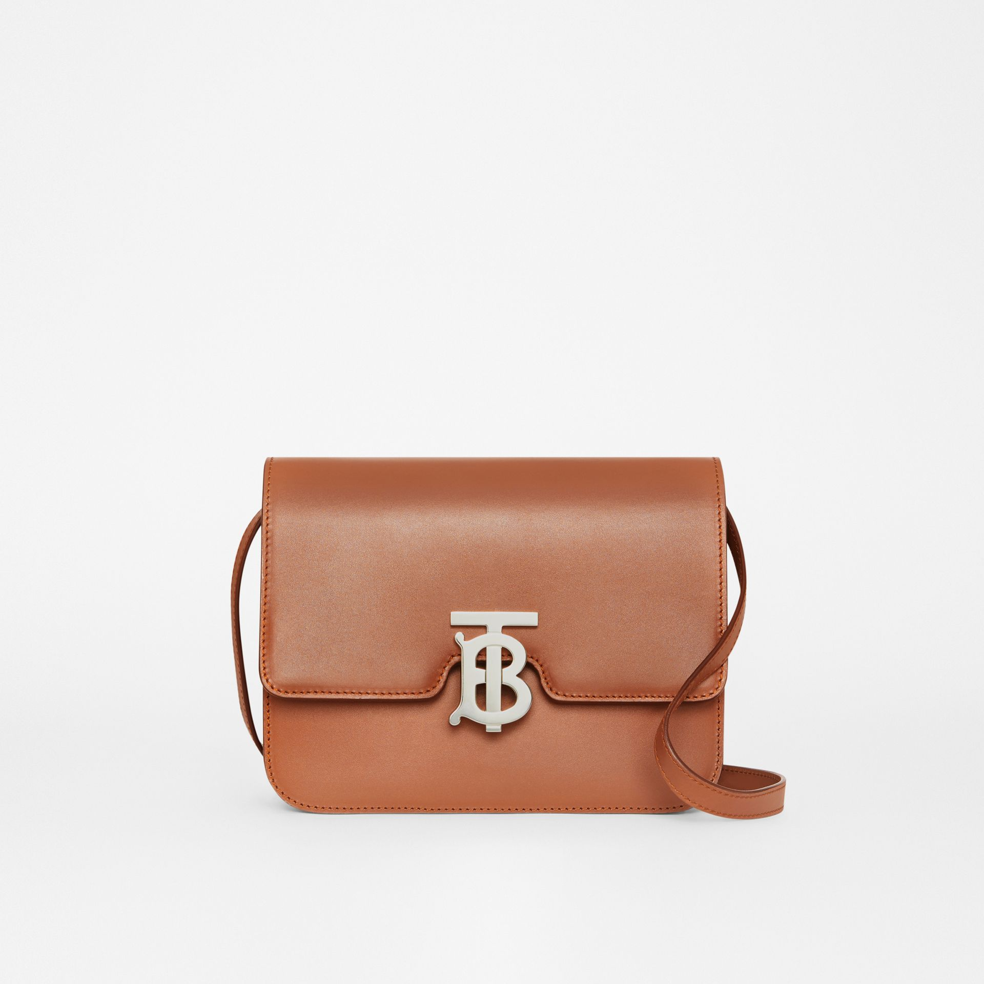 Small Leather TB Bag in Malt Brown - Women   Burberry - gallery image 0