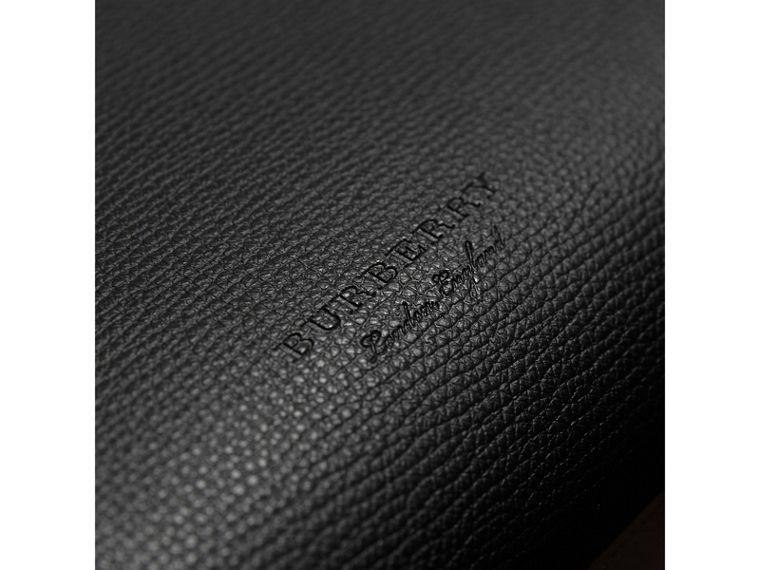 Medium Coated Leather Tote in Black - Women | Burberry United Kingdom - cell image 1