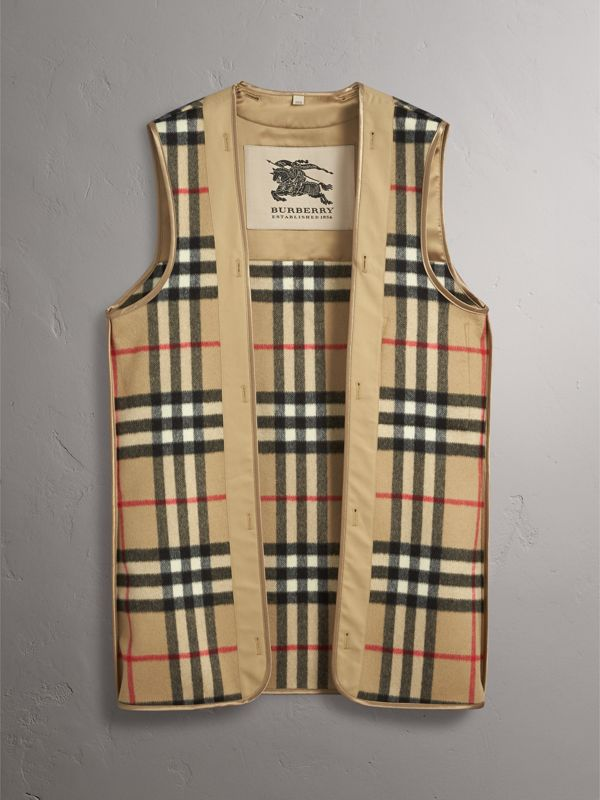 Sandringham Fit House Check Cashmere Wool Warmer in Camel - Men | Burberry - cell image 2