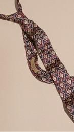 Slim Cut Decorative Jacquard Silk Tie