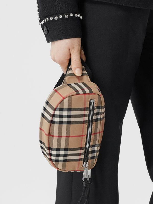 Small Vintage Check Cannon Bum Bag in Archive Beige | Burberry - cell image 2