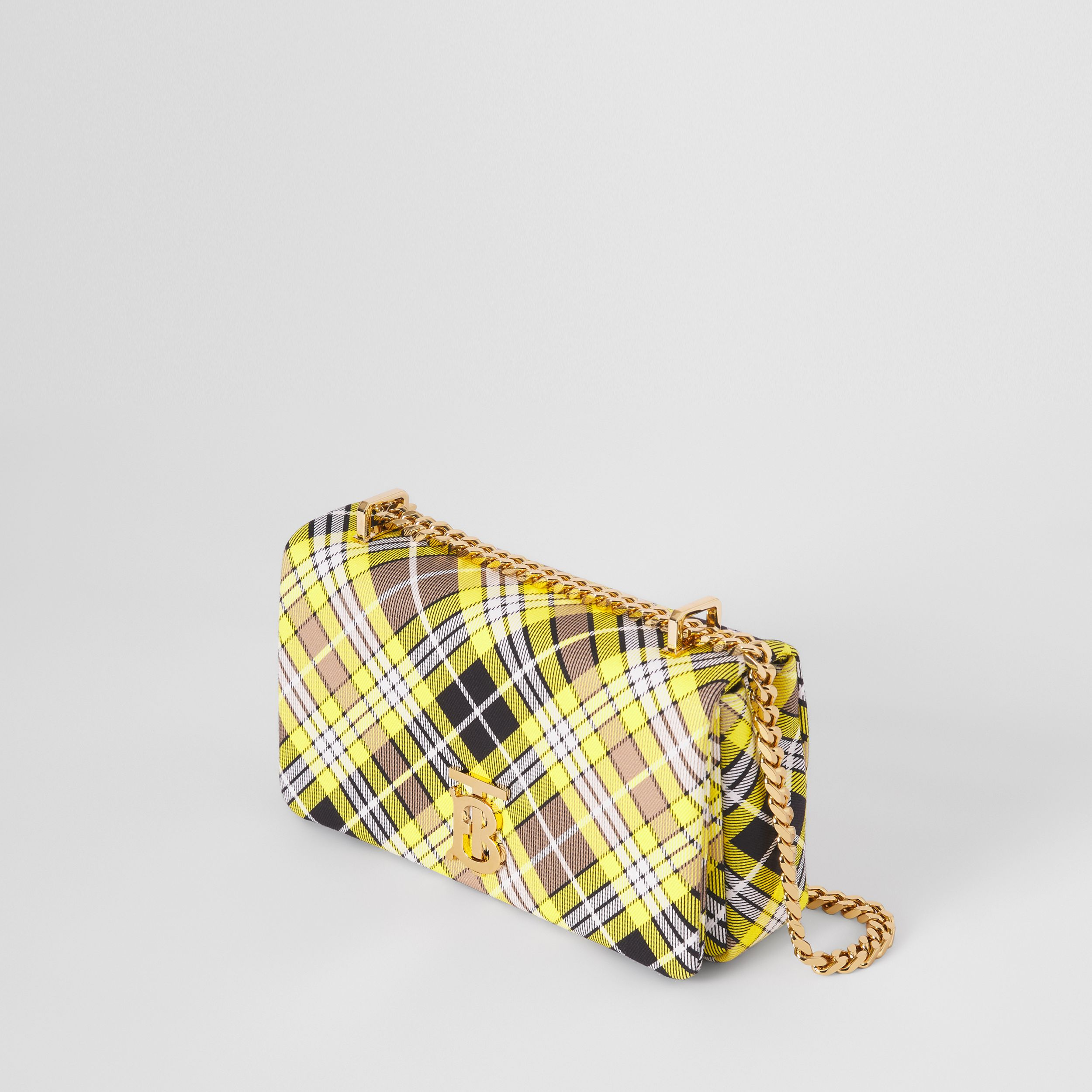 Small Tartan Cotton Lola Bag in Marigold Yellow - Women | Burberry - 3