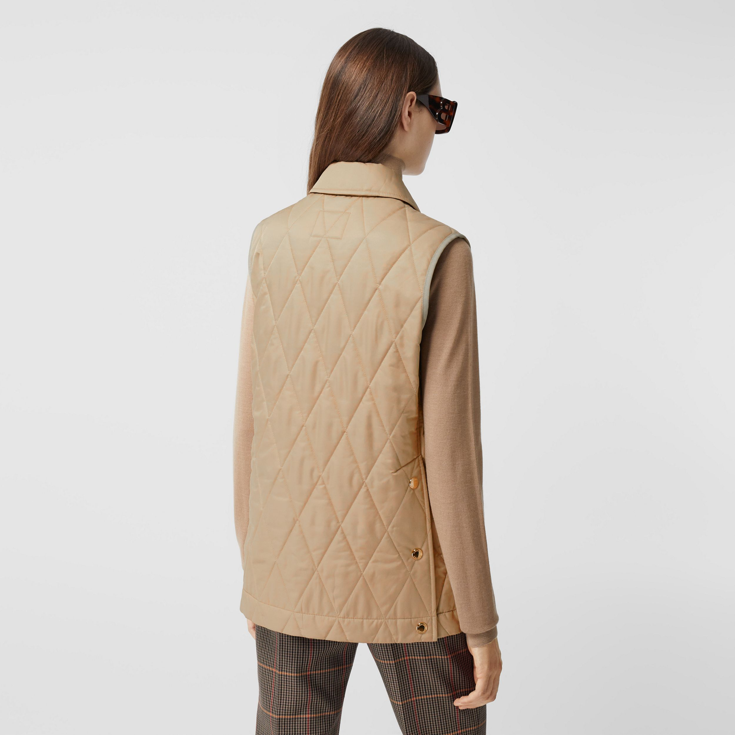 Diamond Quilted Thermoregulated Gilet - Women | Burberry - 3