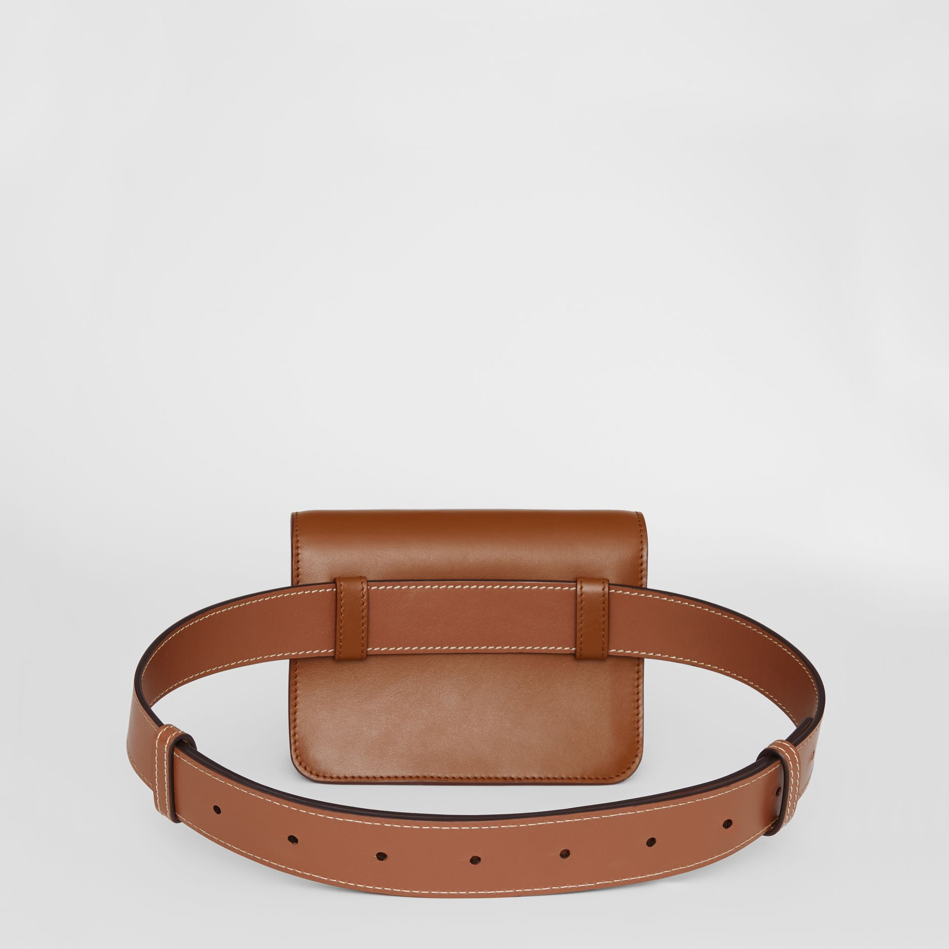 Belted Leather TB Bag in Malt Brown - Women | Burberry Australia - gallery image 7