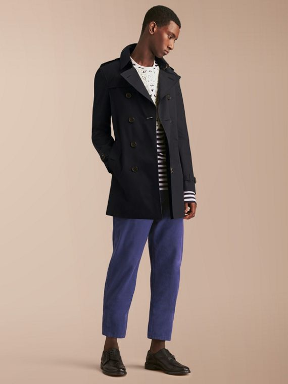 The Chelsea – Mid-length Heritage Trench Coat Navy