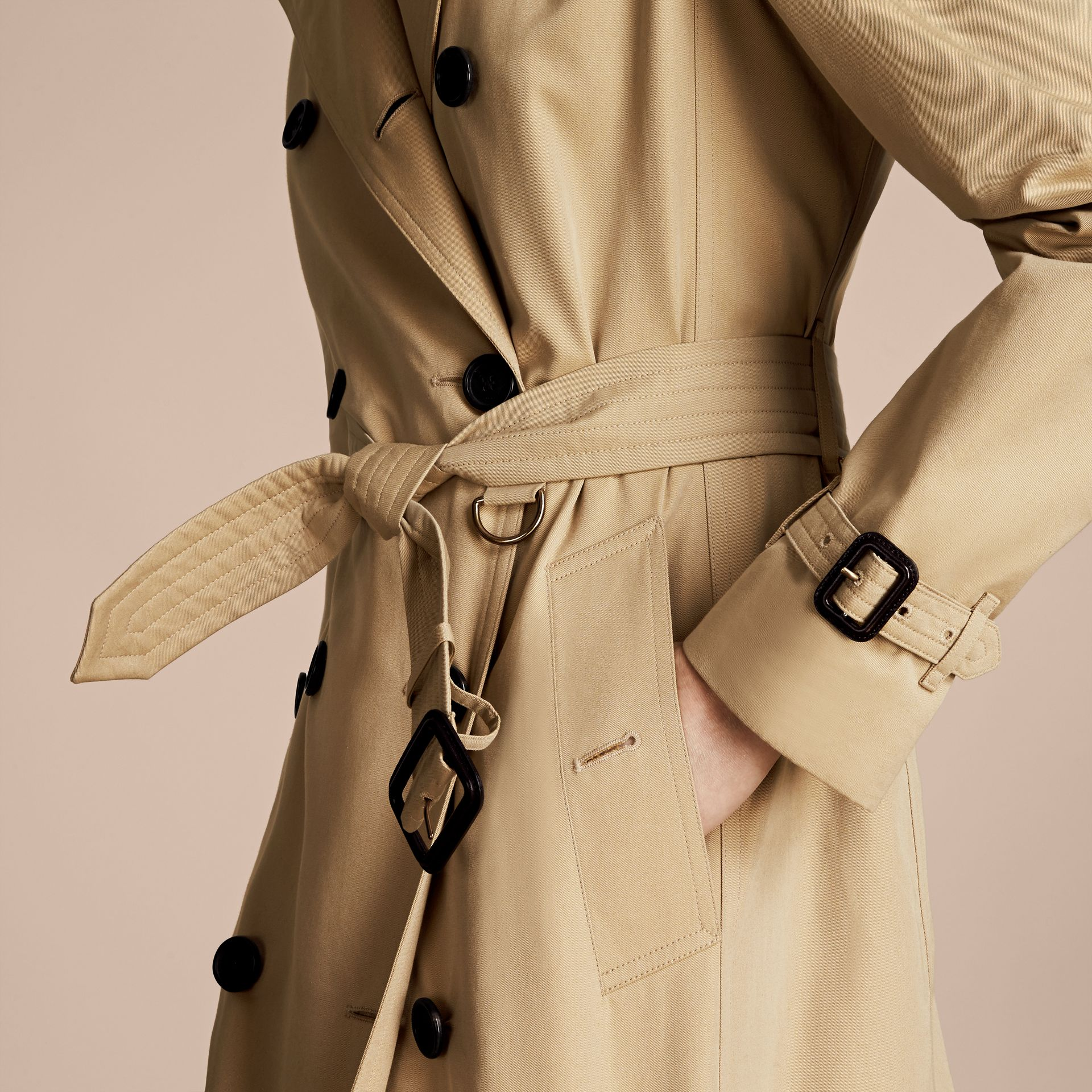 Honey The Westminster – Mid-Length Heritage Trench Coat Honey - gallery image 6