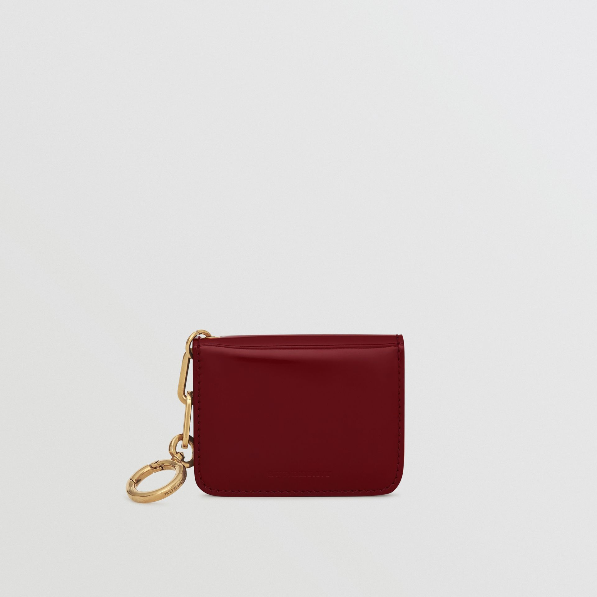Link Detail Patent Leather ID Card Case Charm in Crimson - Women | Burberry United States - gallery image 2