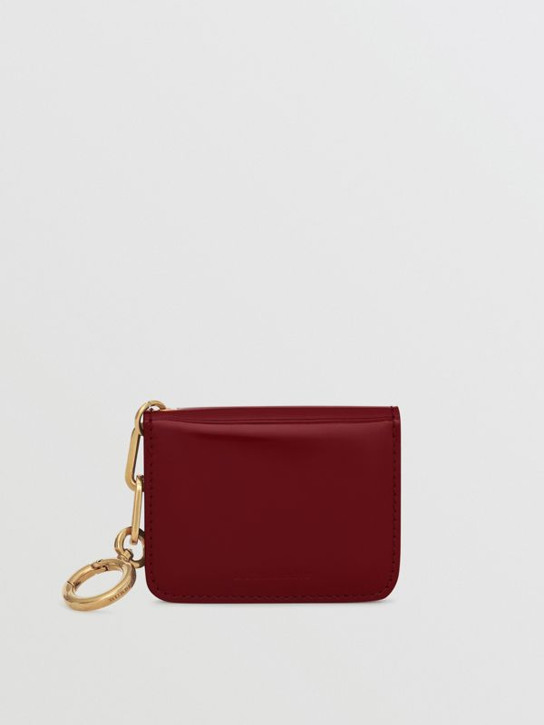 Link Detail Patent Leather ID Card Case Charm in Crimson - Women | Burberry United States - cell image 2