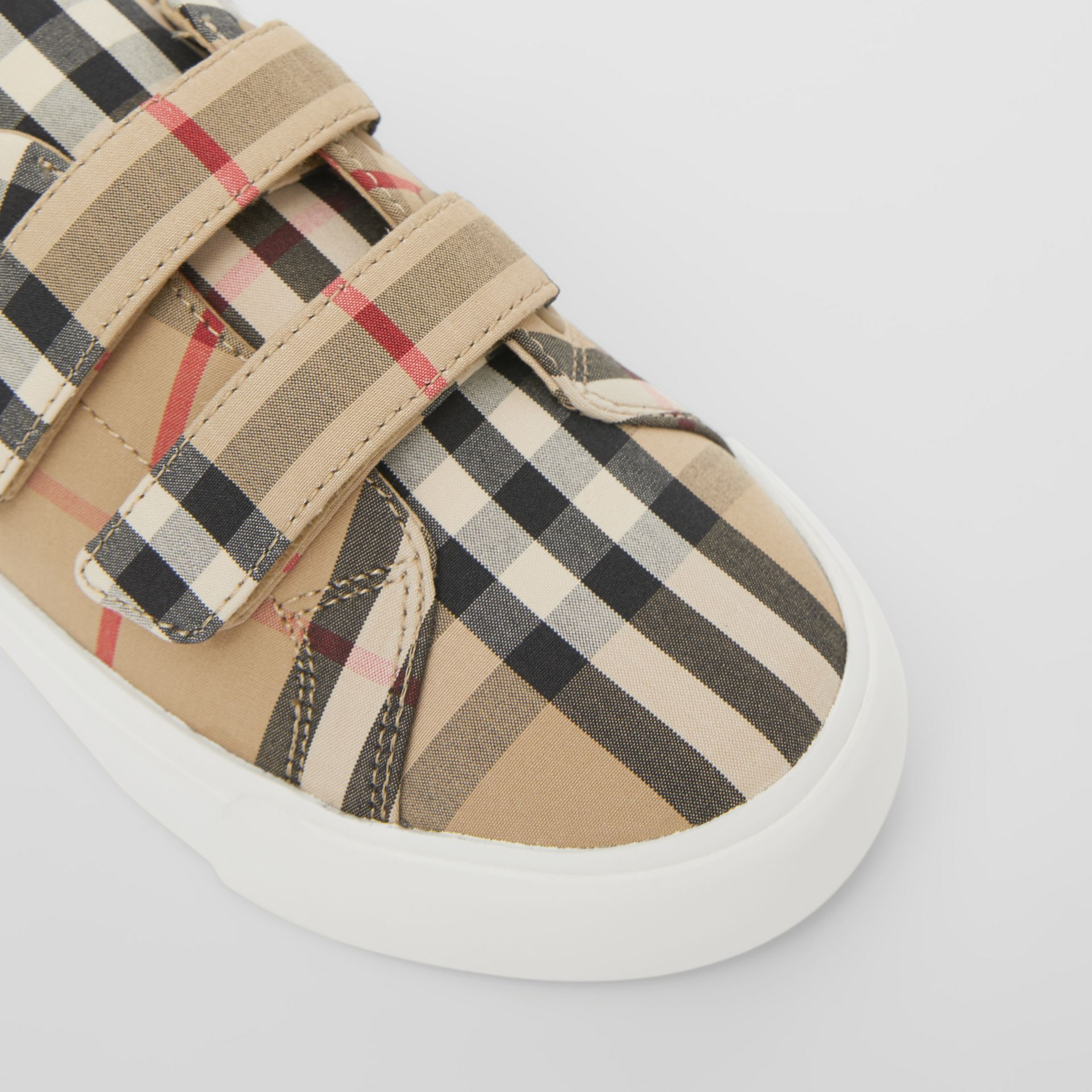 Vintage Check Cotton Sneakers in Archive Beige - Children | Burberry Singapore - gallery image 1