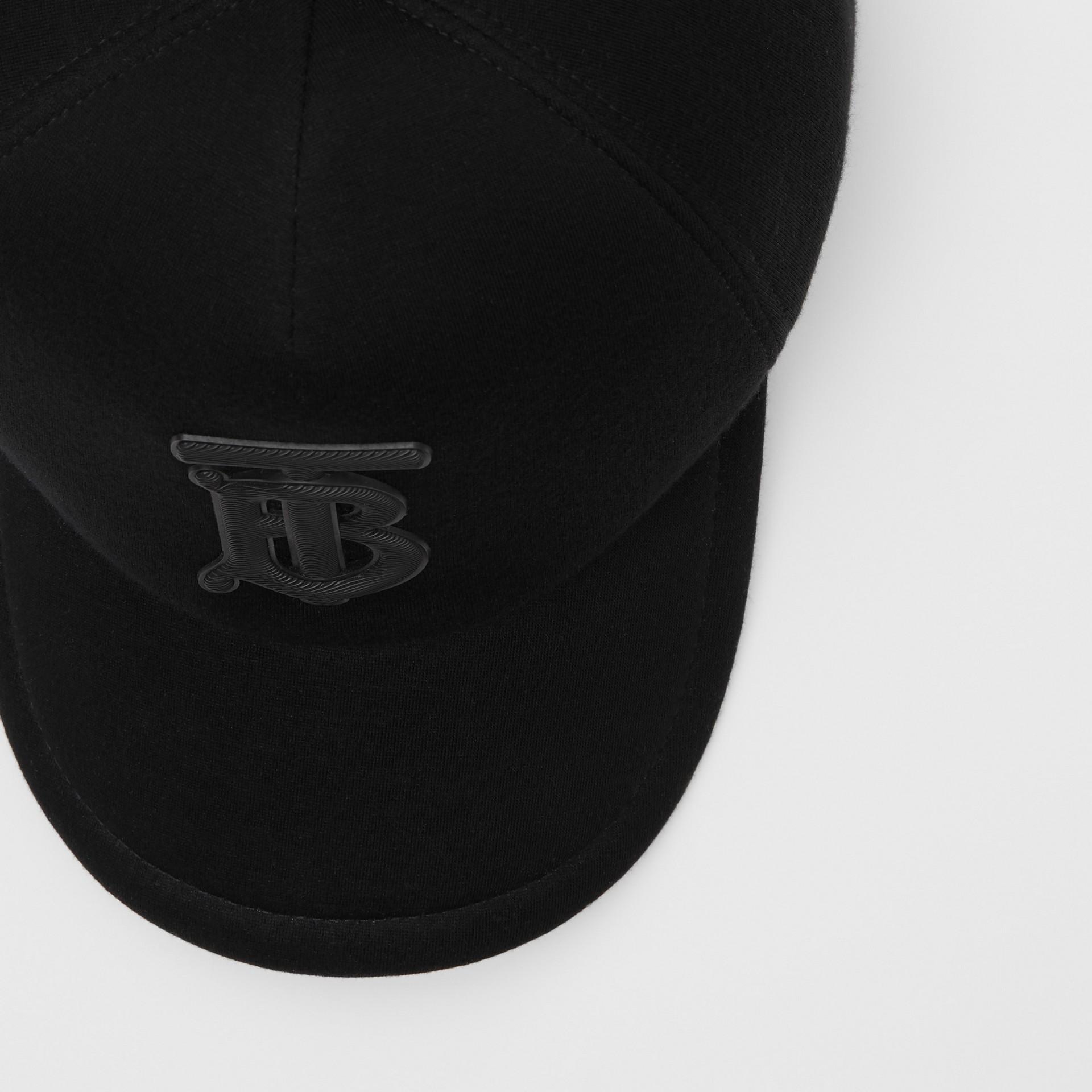モノグラムモチーフ ネオプレン ベースボールキャップ (ブラック) | バーバリー - ギャラリーイメージ 1