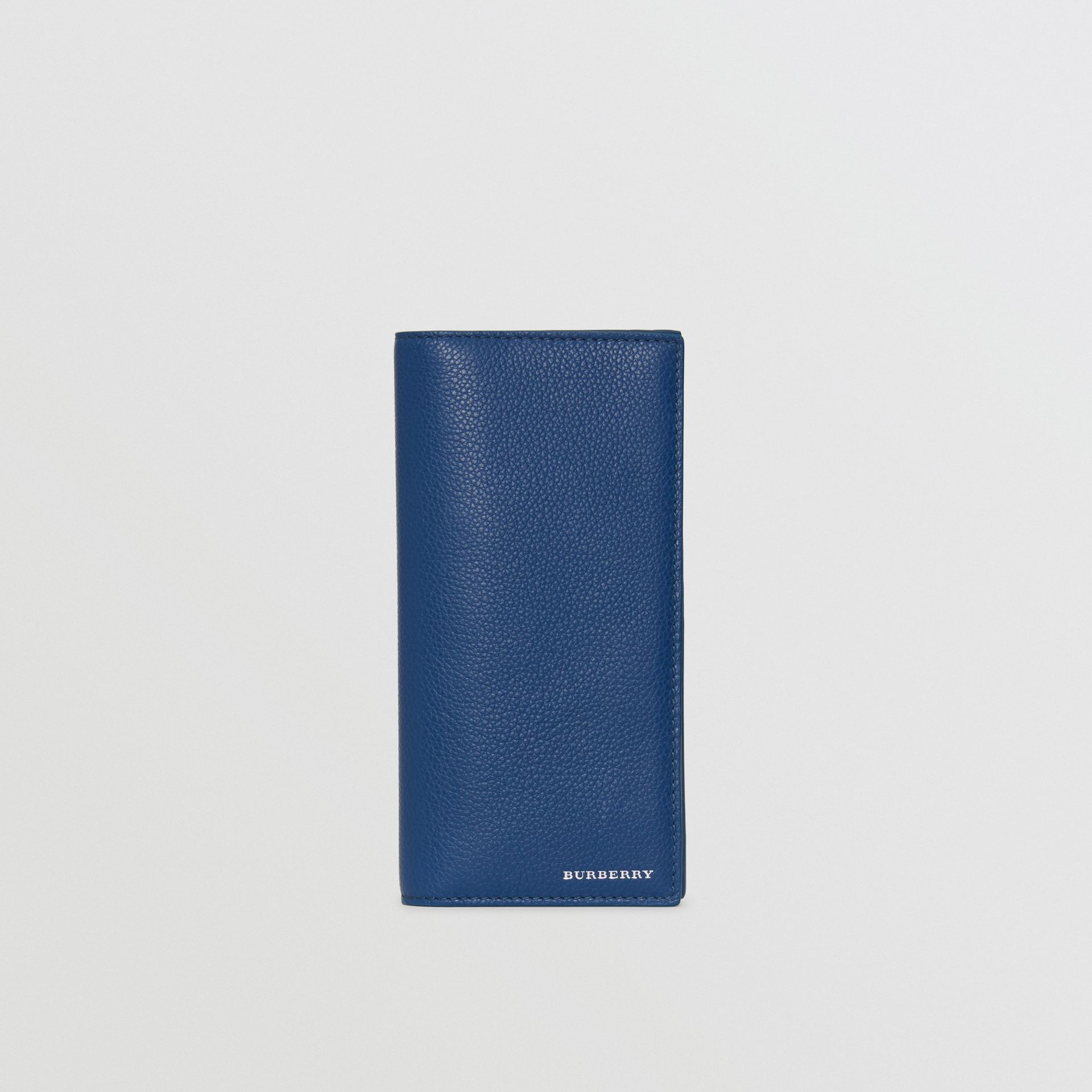 Grainy Leather Continental Wallet in Bright Ultramarine - Men | Burberry United States - gallery image 2