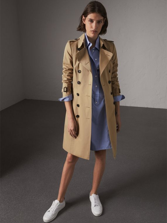 Trench coat Chelsea largo (Miel)