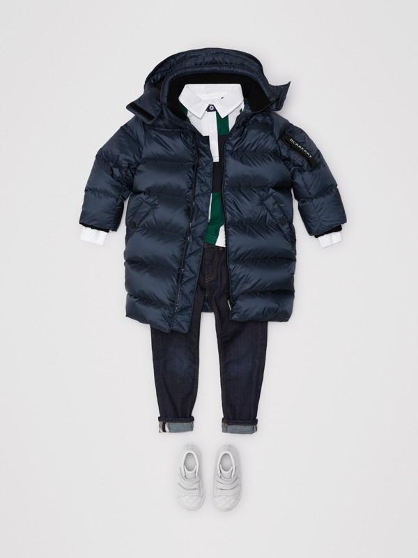 Abrigo acolchado con relleno de plumón y capucha de quita y pon (Azul Marino) | Burberry - cell image 2