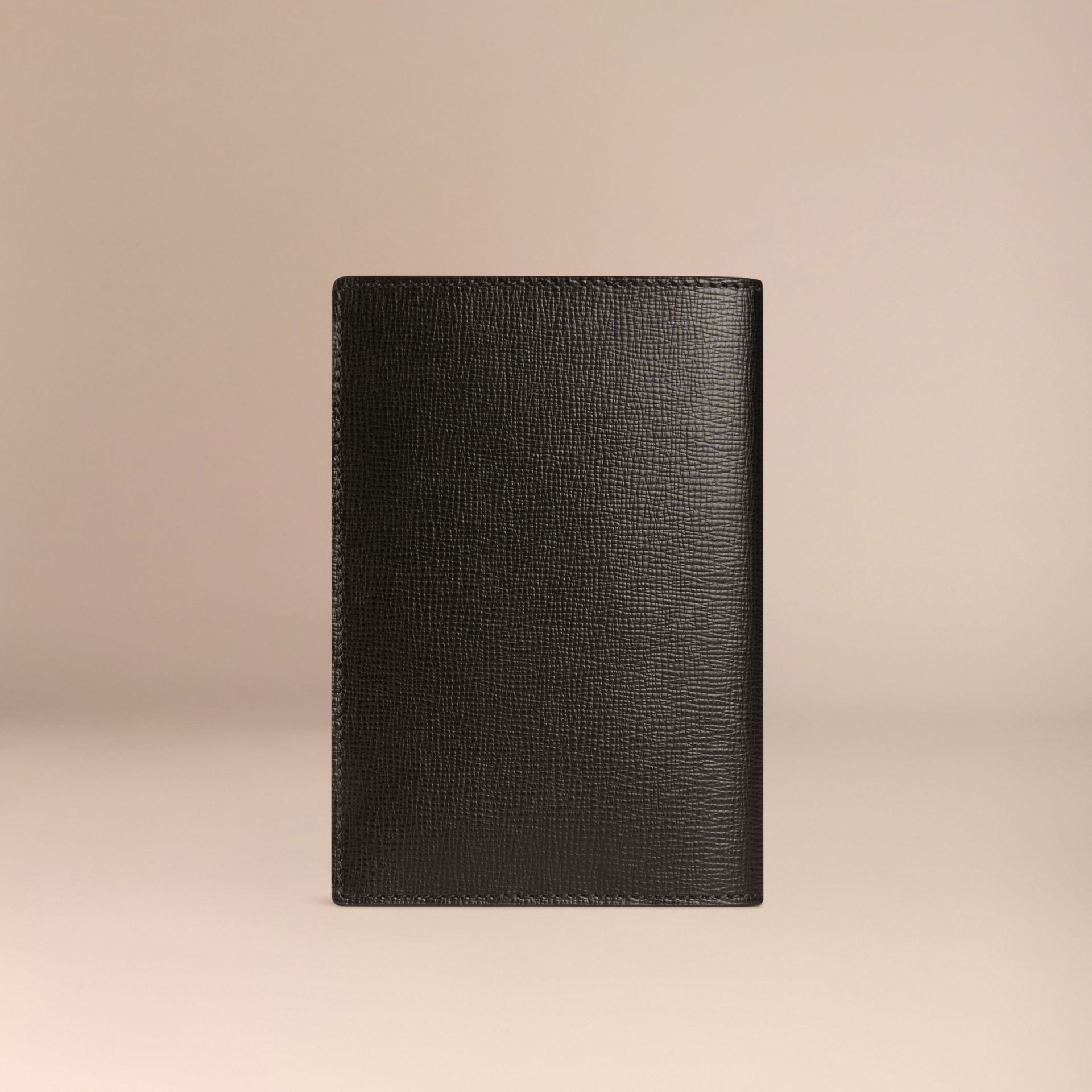 Black London Leather Passport Cover Black - gallery image 3