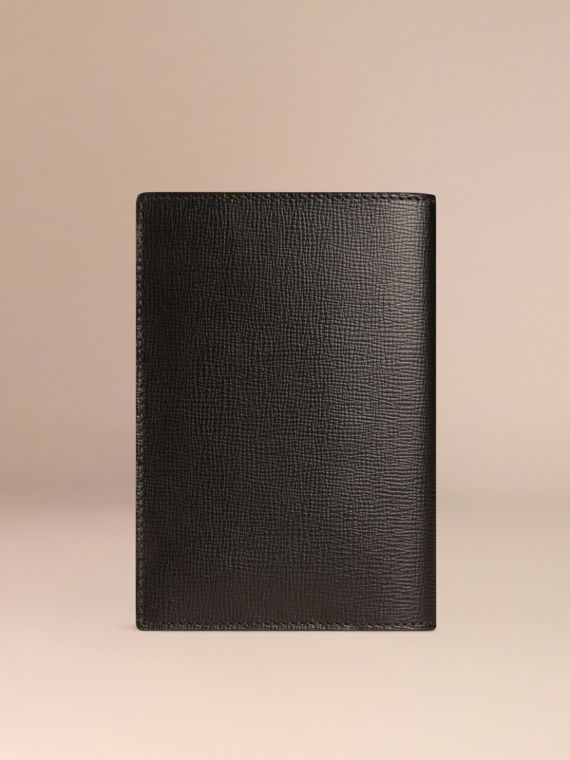 Black London Leather Passport Cover Black - cell image 2