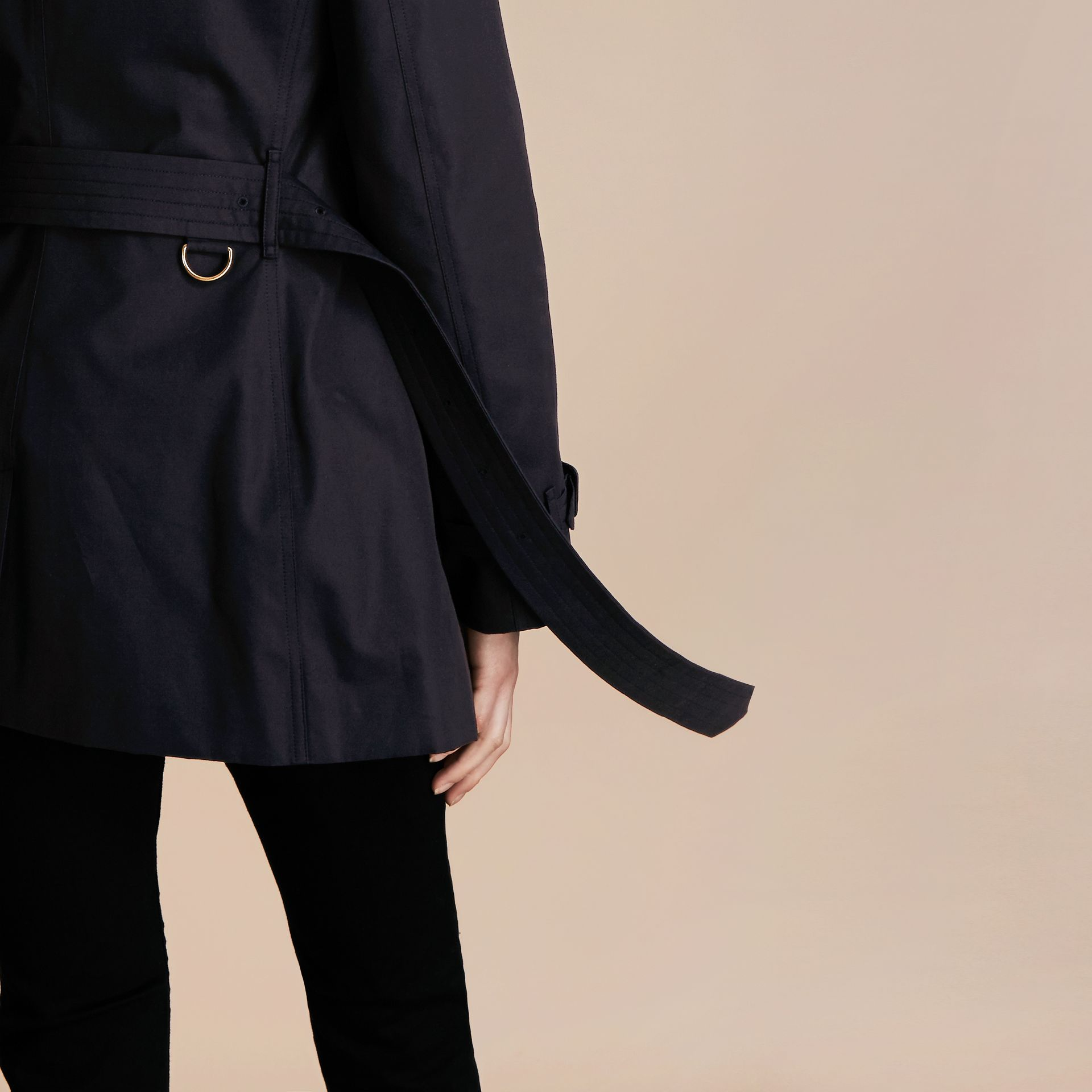 Navy The Kensington – Short Heritage Trench Coat Navy - gallery image 6