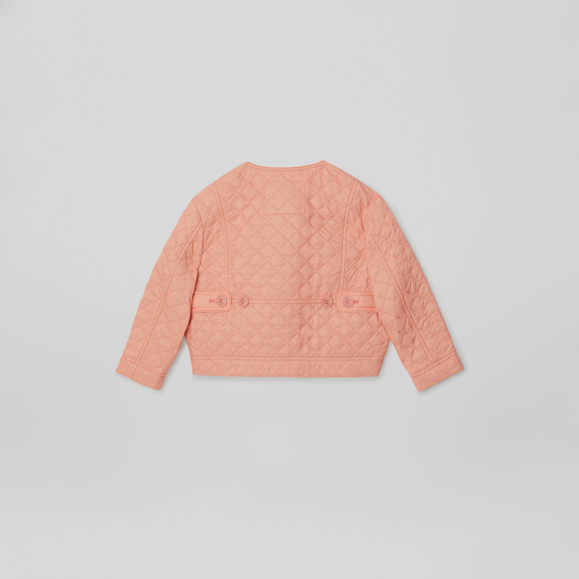 Lightweight Diamond Quilted Jacket in Apricot Pink | Burberry - gallery image 4