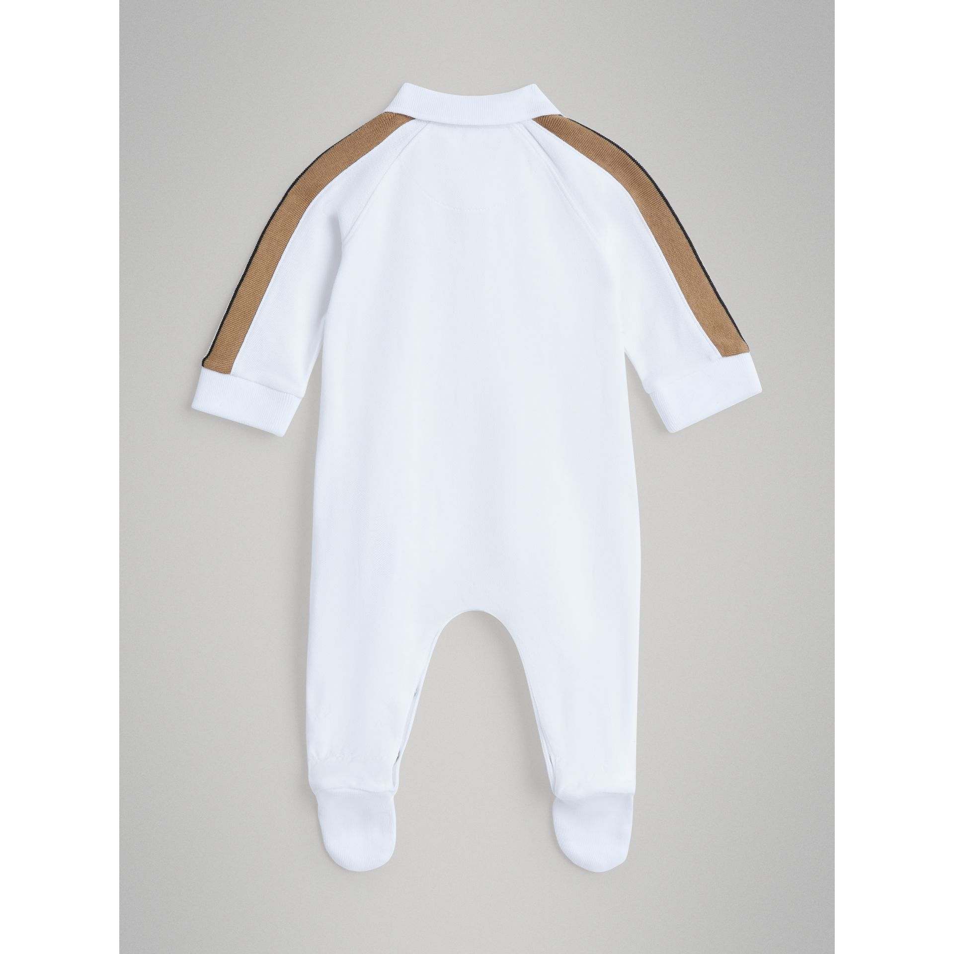 Heritage Stripe Two-piece Baby Gift Set in White | Burberry - gallery image 3