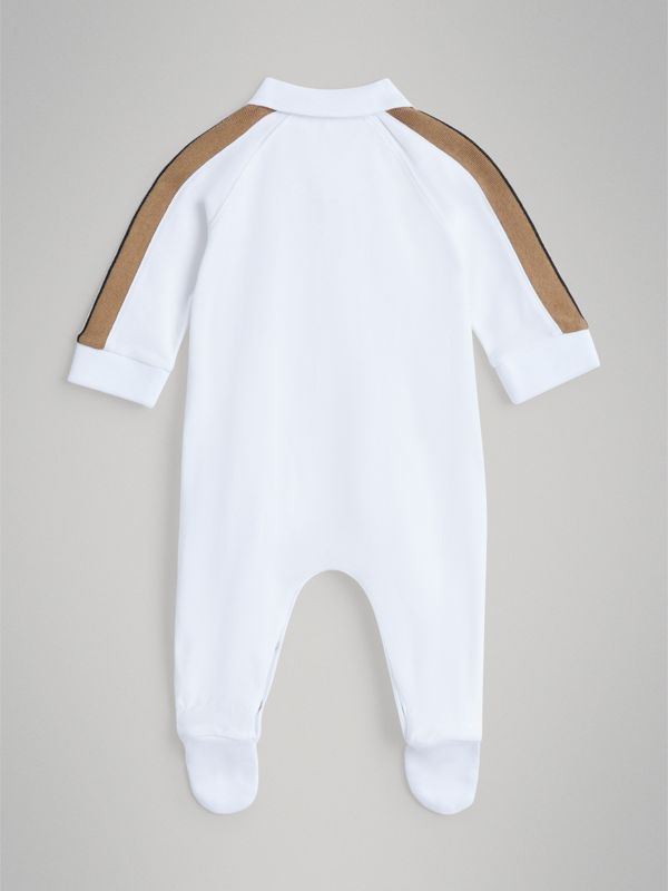 Heritage Stripe Two-piece Baby Gift Set in White - Children | Burberry - cell image 3