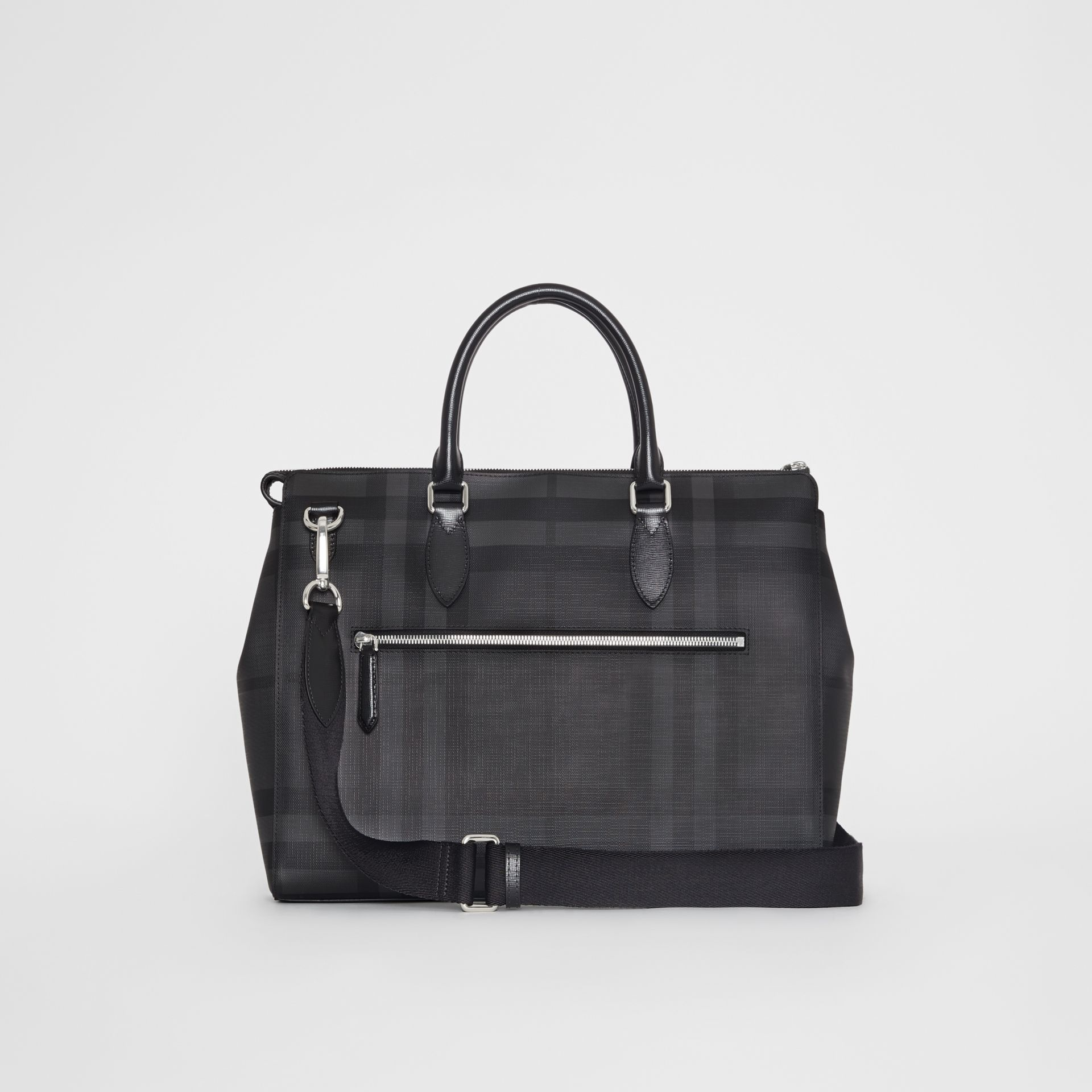 Large London Check Briefcase in Charcoal/black - Men | Burberry Singapore - gallery image 5
