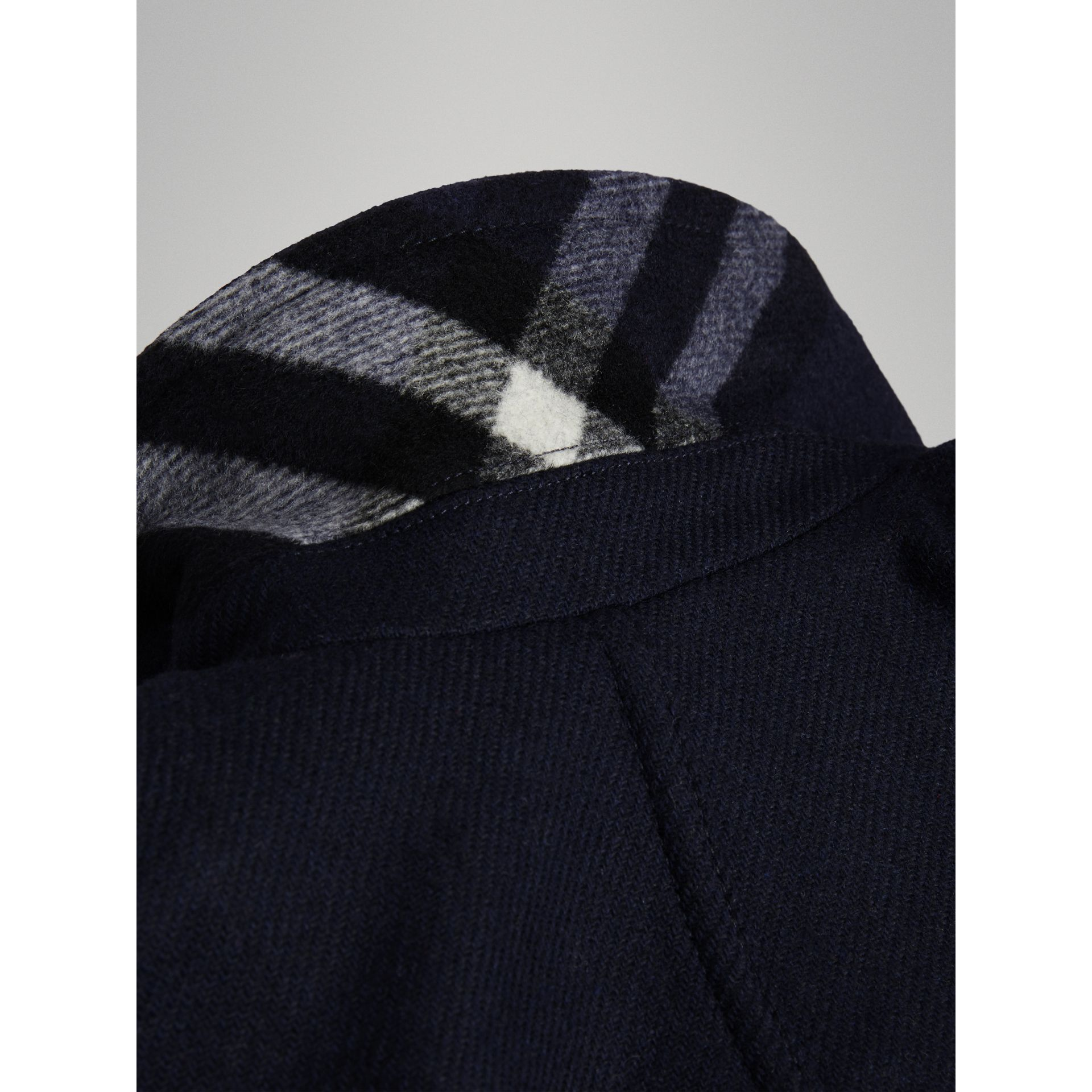 Double-faced Wool Pea Coat in Navy | Burberry Canada - gallery image 3