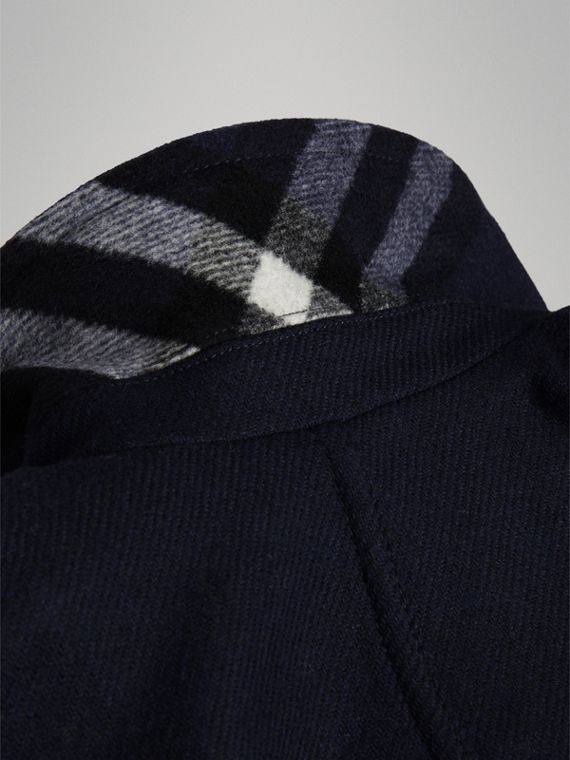 Double-faced Wool Pea Coat in Navy - Girl | Burberry - cell image 3