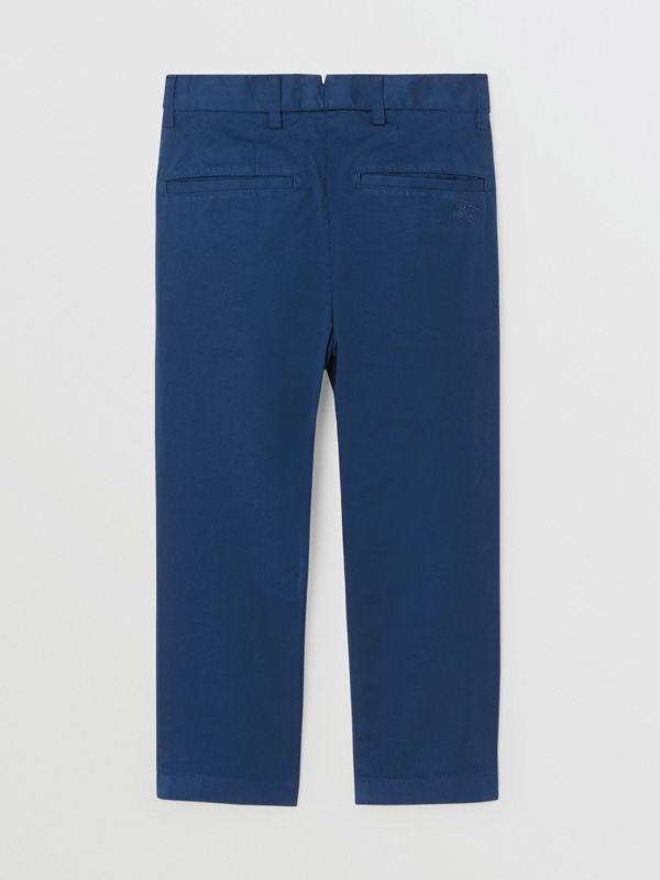 Cotton Chinos in Bright Navy | Burberry - cell image 3