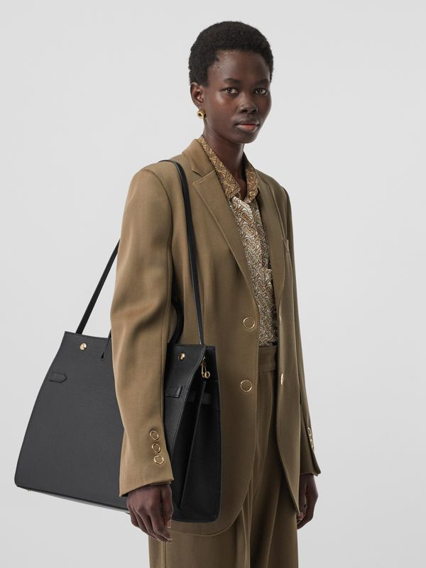 Large Leather Title Bag in Black - Women | Burberry - cell image 2