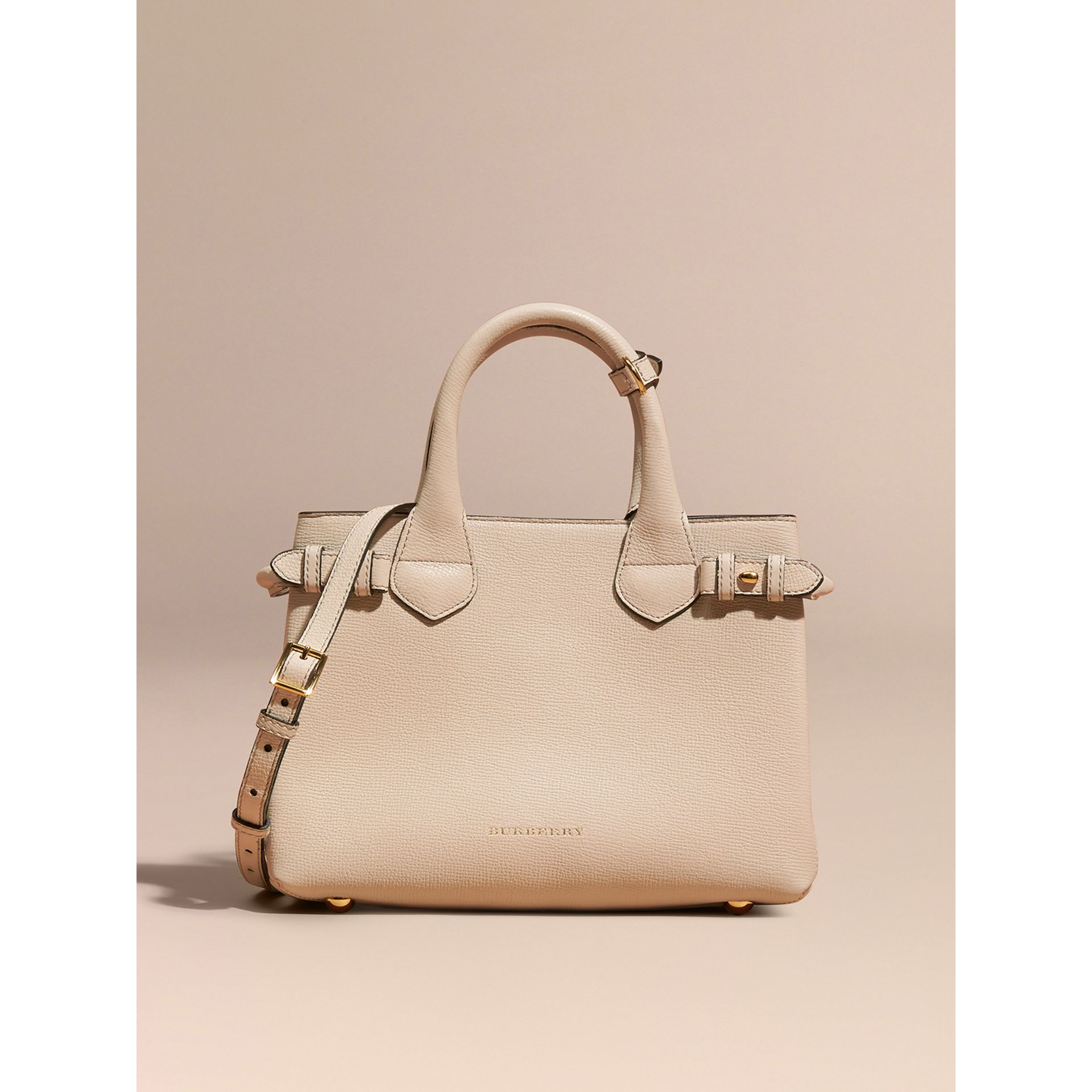 Petit sac The Banner en cuir et coton House check (Calcaire) - Femme | Burberry - photo de la galerie 7