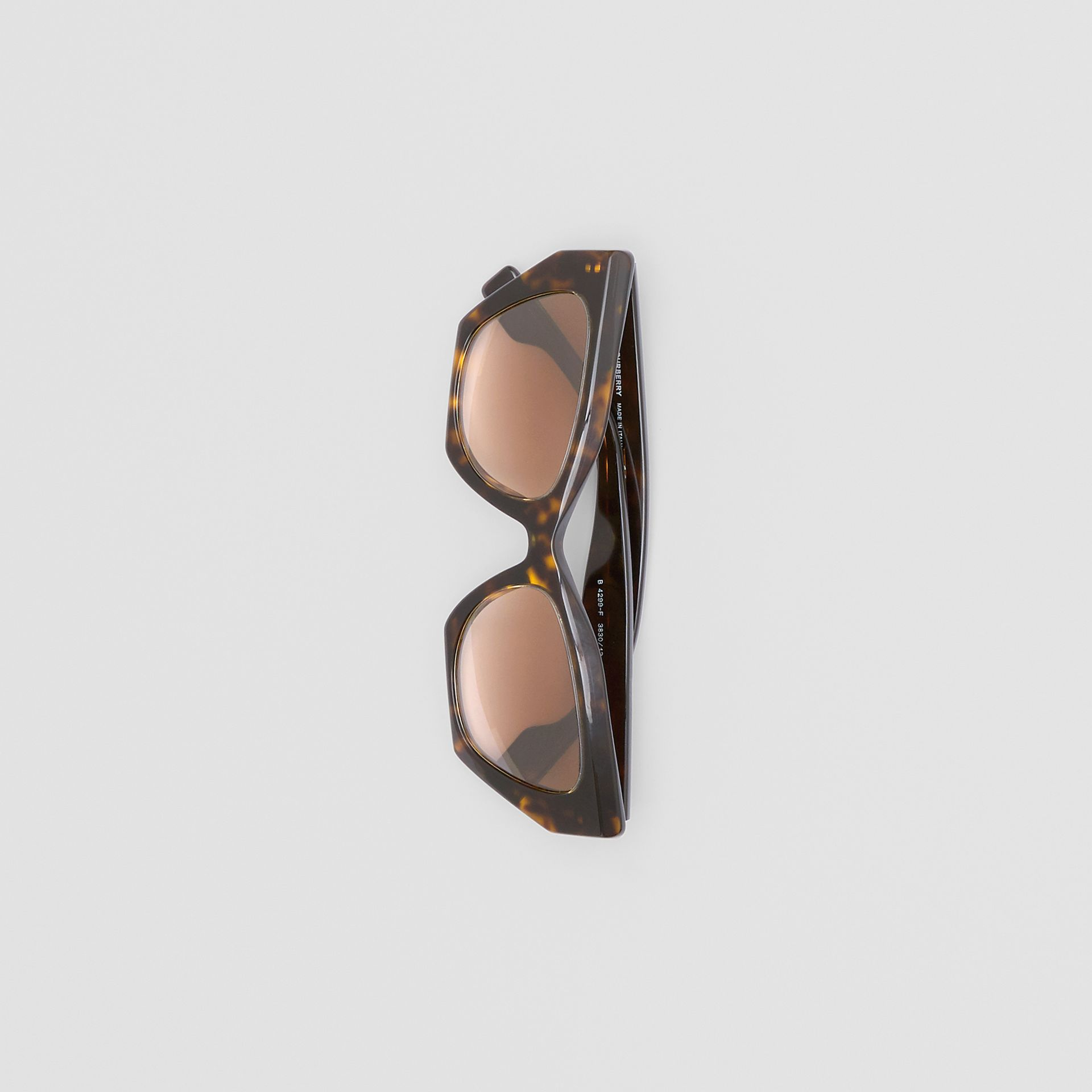Butterfly Frame Sunglasses in Tortoiseshell - Women | Burberry - gallery image 2