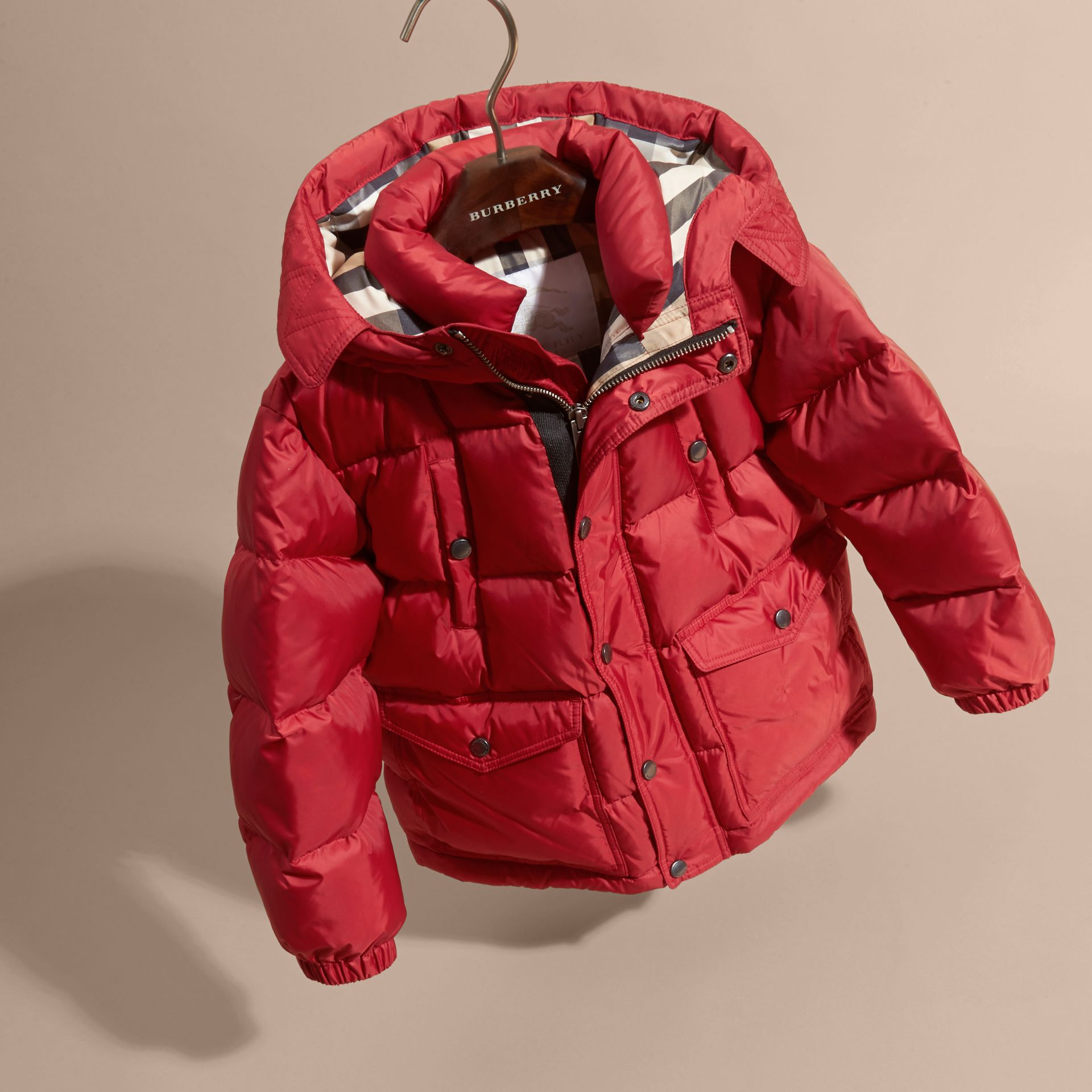 Military red Lightweight Down-filled Coat Military Red - gallery image 3