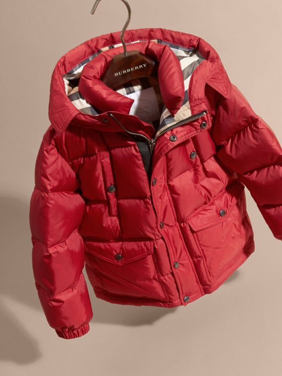 Military red Lightweight Down-filled Coat Military Red - cell image 2