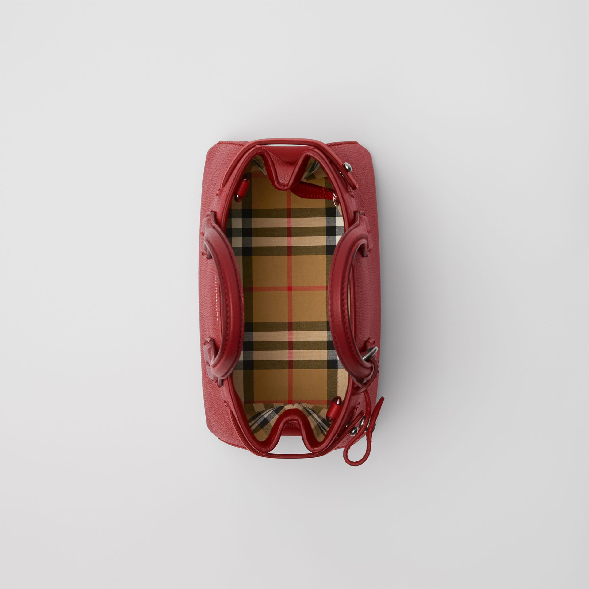 The Baby Banner in Leather and Vintage Check in Crimson - Women | Burberry - gallery image 3