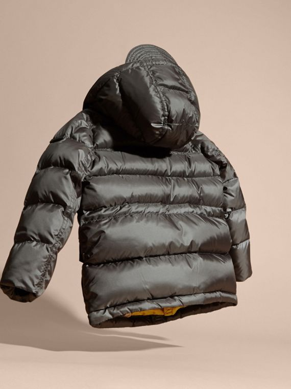 Mid grey Down-Filled Hooded Puffer Coat Mid Grey - cell image 3