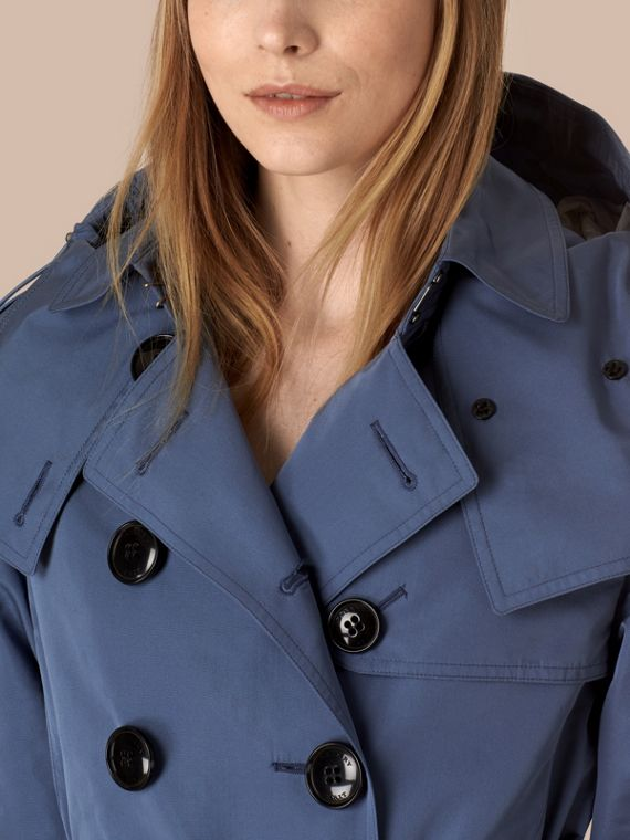 Pale lupin blue Showerproof Trench Coat with Detachable Hood Pale Lupin Blue - cell image 3