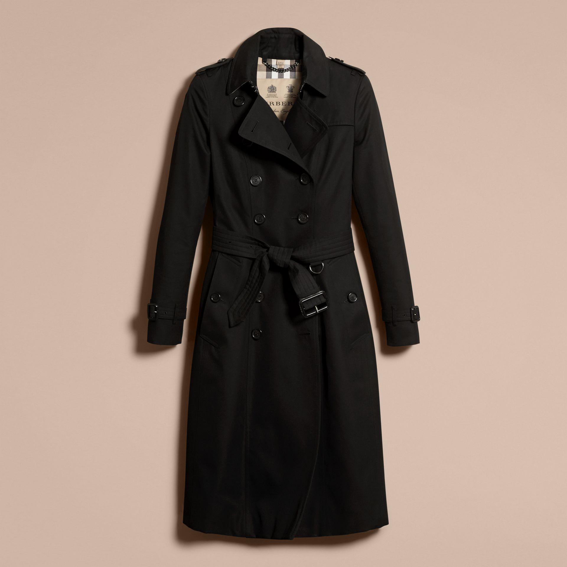 Black The Chelsea – Extra-long Heritage Trench Coat Black - gallery image 4