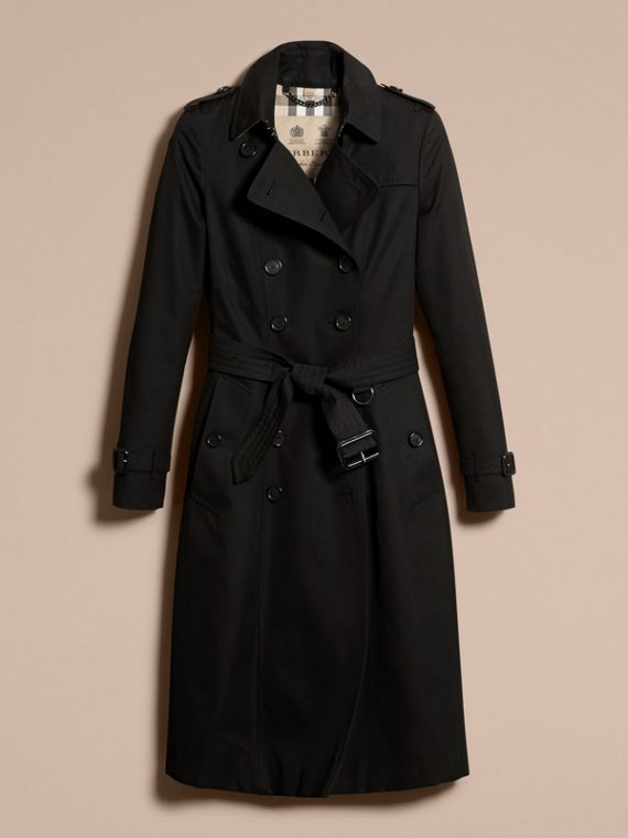 Black The Chelsea – Extra-long Heritage Trench Coat Black - cell image 3