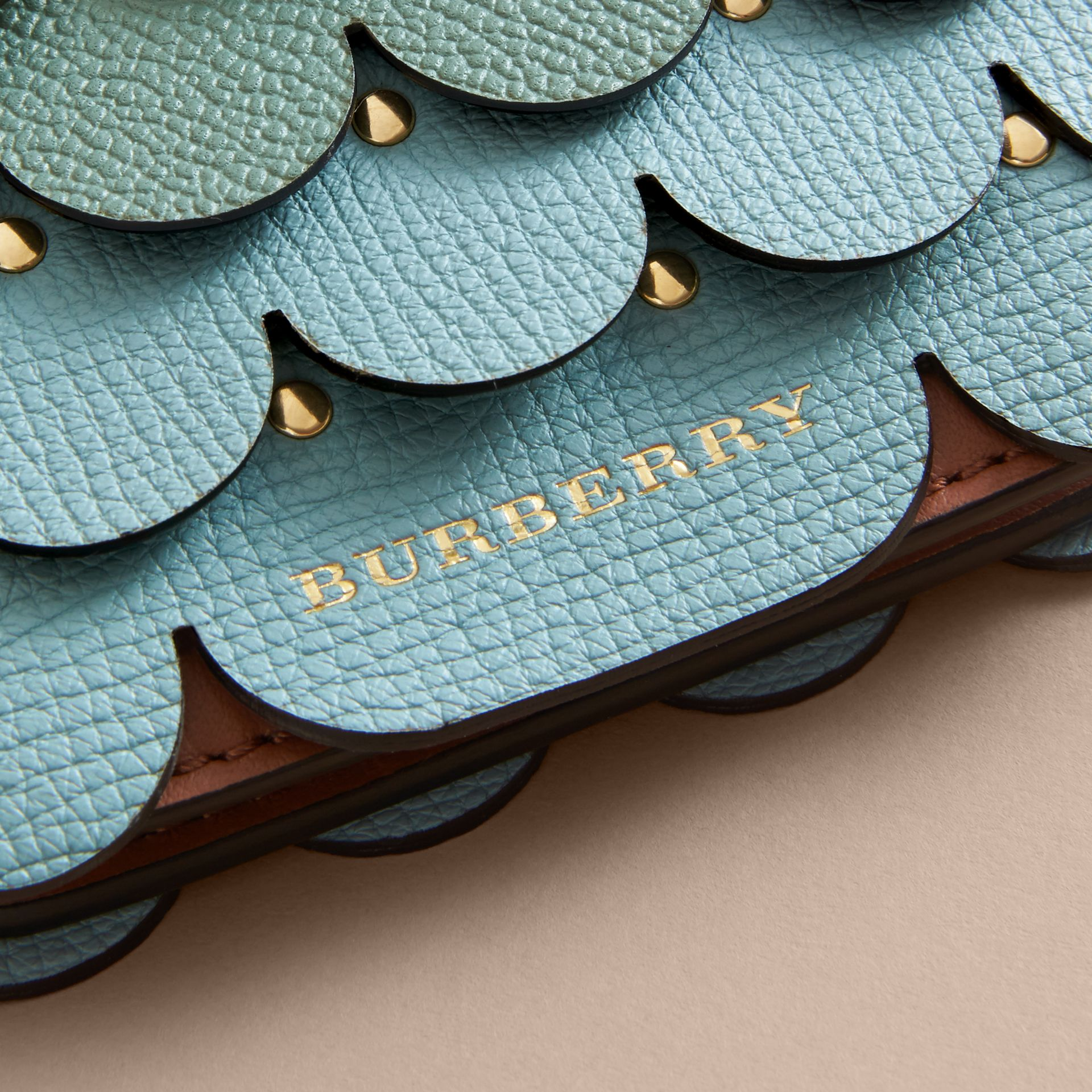 Scalloped Leather Card Case in Bright Toffee - Women | Burberry - gallery image 2