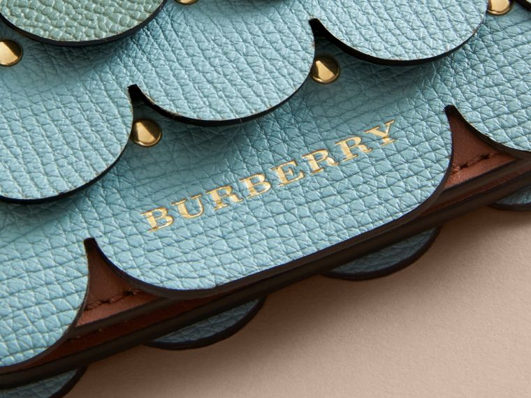 Scalloped Leather Card Case in Bright Toffee - Women | Burberry - cell image 1