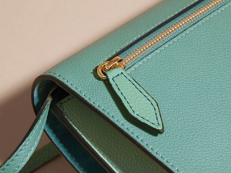 Celadon blue Small Leather and House Check Crossbody Bag Celadon Blue - cell image 4