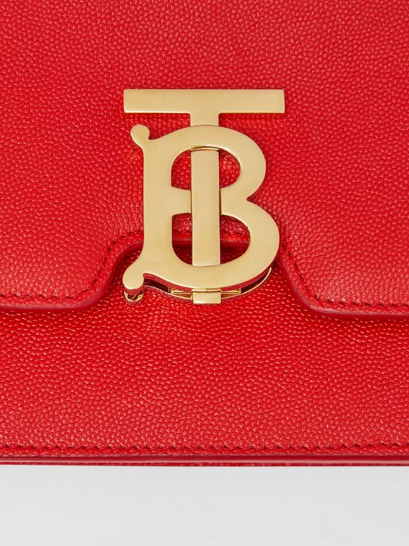 Small Grainy Leather TB Bag in Bright Red - Women | Burberry Australia - cell image 1