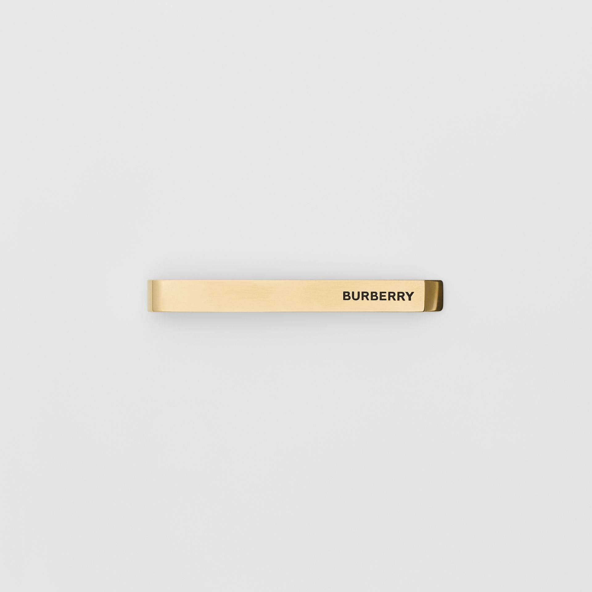 Engraved Gold-plated Tie Bar in Light - Men | Burberry - gallery image 0