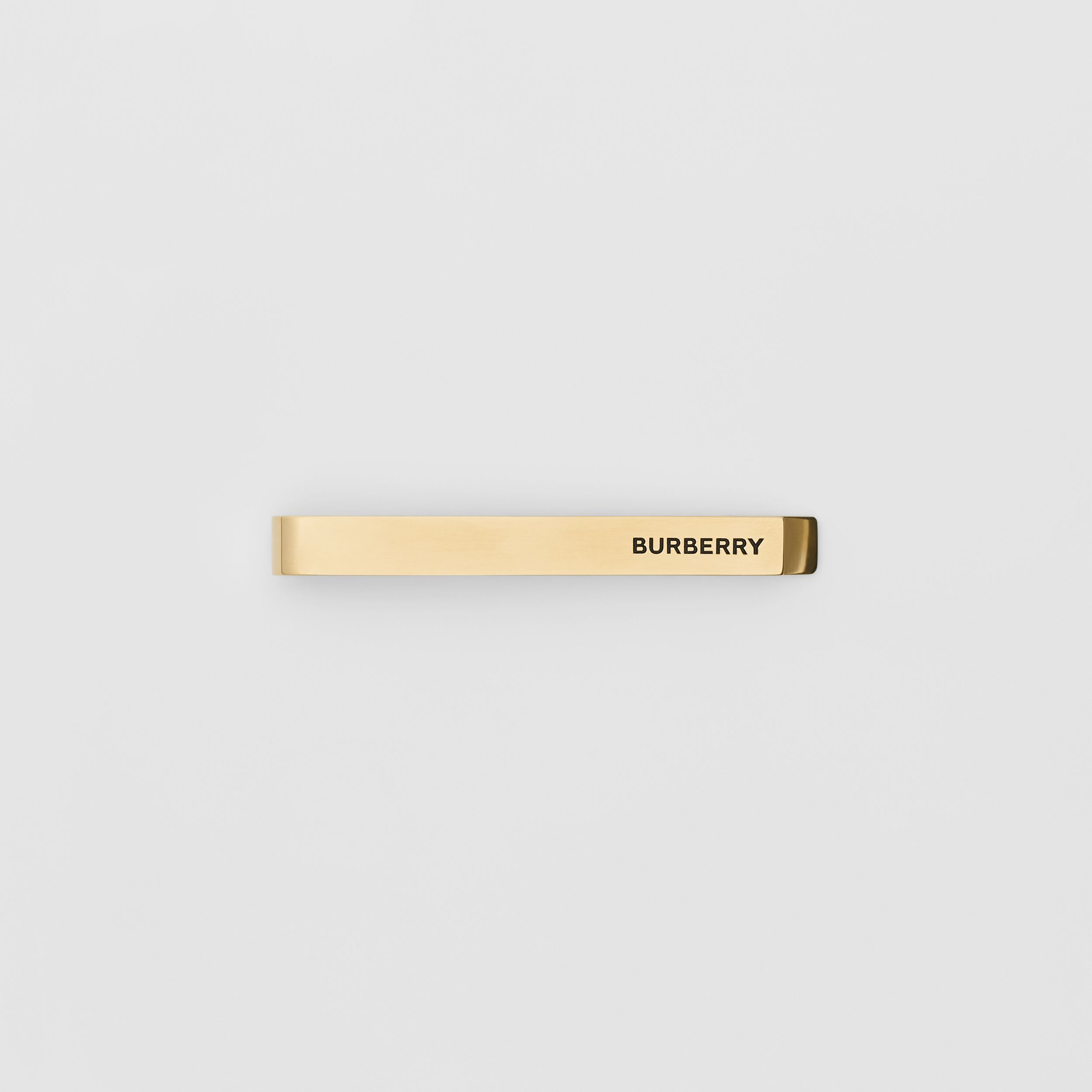 Engraved Gold-plated Tie Bar in Light - Men | Burberry - 1