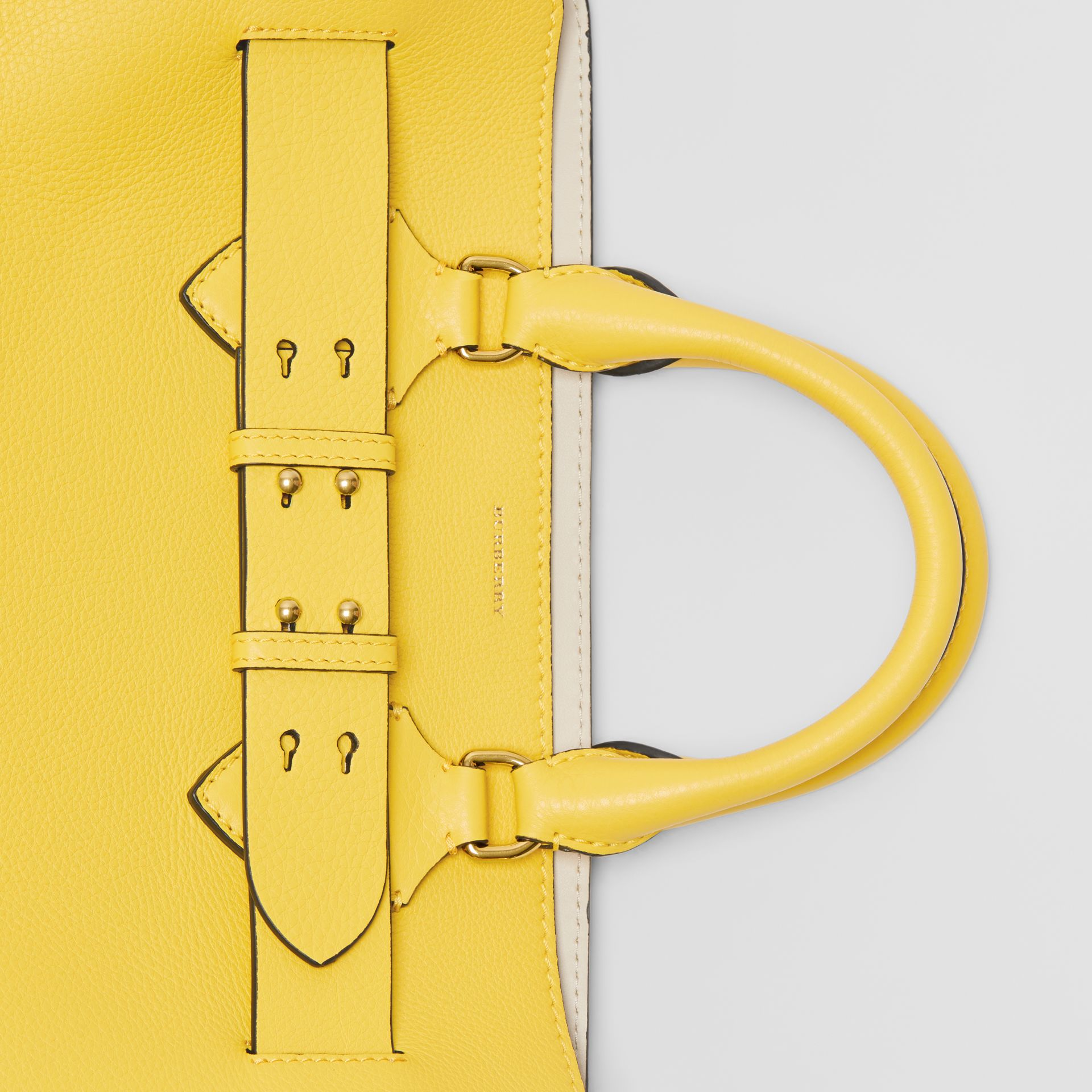 The Medium Leather Belt Bag in Bright Larch Yellow - Women | Burberry United Kingdom - gallery image 1